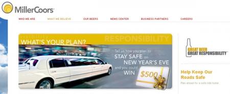 MillerCoors призывает водителей к социальной ответственности