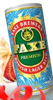 Пиво Faxe в зимней упаковке