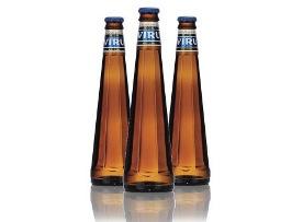 Восьмигранная бутылка пива Viru Premium