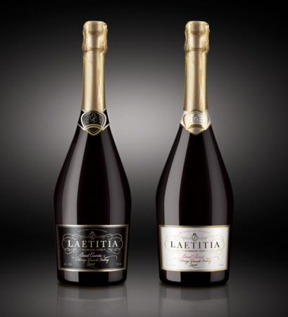 Черная и белая бутылки для игристого вина Laetitia