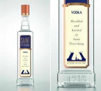Новая водка «Saint Petersburg». Первая в мире бутылка с квадратным горлом
