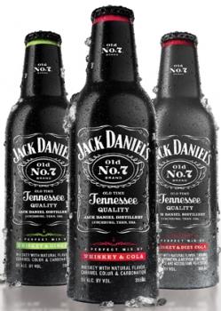 Jack Daniel's представляет готовые коктейли в алюминевых бутылках