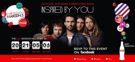 Coca-Cola и Maroon 5 устроят 24-часовой музыкальный эксперимент