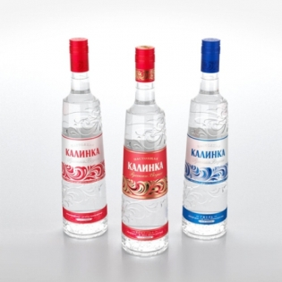 Редизайн водки «Калинка»