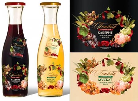 В Design Studio 13 разработали дизайн упаковки для Fantasy Wine