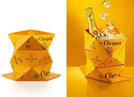 Оригами для шампанского Вдова Клико