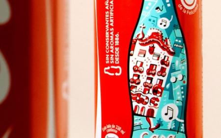 На банках CocaCola изобразили еe же бутылки