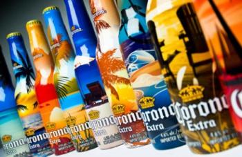 """Новый """"пляжный"""" дизайн для пива Corona Extra"""