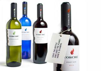 Бутылка от вина Torche, опустев, превращается в факел