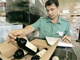 Таможня приняла меры в отношении импортного вина