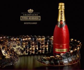 Шампанское Piper-Heidsieck в гламурном крокодиле