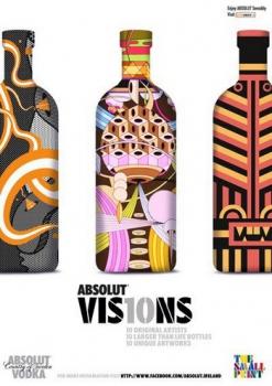 Absolut VIS10NS: живопись на бутылках