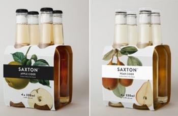 Концепт упаковки сидра Saxton