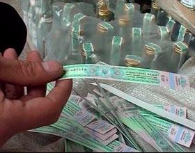 В Якутии изъяли почти семь тысяч бутылок водки с поддельными акцизными марками