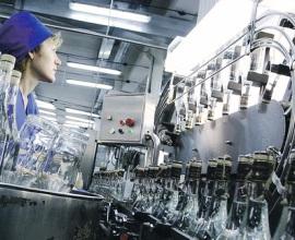 Производство водки в России в марте увеличилось на 44,4%