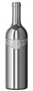Американская винодельня представила стильную винную бутылку из хромированного стекла