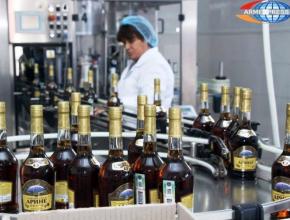 Армения в 2017г увеличила производство коньяка