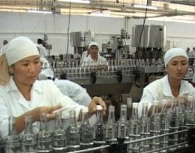 Какие виды напитков и в каком количестве были произведены в Кыргызстане за 3 месяца?